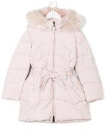 MonnaLisa belted padded jacket