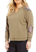 Democracy Plus Embroidered High Low Sweater
