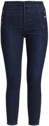 J Brand Natasha Sky High-Rise Crop Skinny Jeans