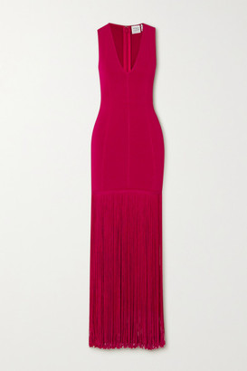 Herve Leger Fringed Bandage Gown - Red