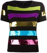 Marc Jacobs sequinned striped top - women - Polyester/Viscose - L