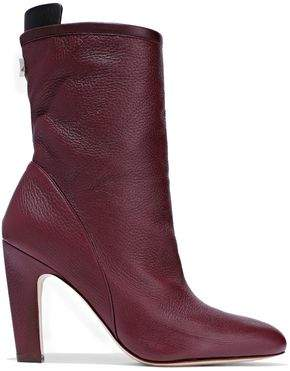 Stuart Weitzman Textured-leather Ankle Boots