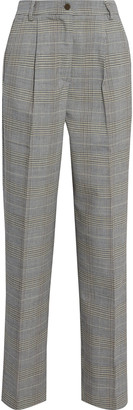 Iris & Ink Carmen Prince Of Wales Checked Woven Straight-leg Pants