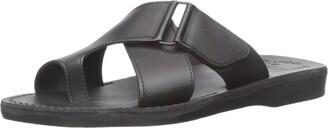 Jerusalem Sandals Asher - Leather Slide On Sandal - Mens Sandals Black