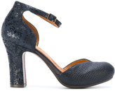 Chie Mihara embroidered platform pumps - women - Leather/rubber - 36