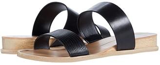 Dolce Vita Payce (Black Multi Embossed Lizard) Women's Slide Shoes
