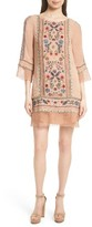 Alice + Olivia Women's Gabriel Embroidered Tunic Dress