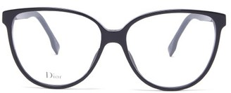 Christian Dior Dioretoile3 Cat-eye Acetate Glasses - Black