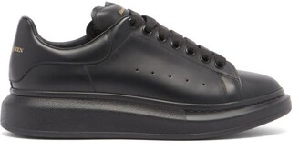 Alexander McQueen Raised-sole Low-top Leather Trainers - Black
