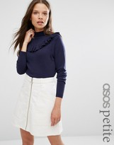 Asos Sweater with Ruffle Front