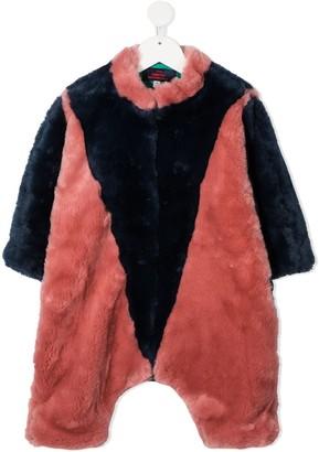 The Animals Observatory Colour-Block Fur Bodysuit