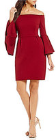 Trina Turk Miley Off-the-Shoulder Bell Sleeve Sheath Dress