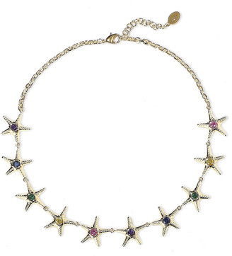Noir 14-karat Gold-plated Crystal Necklace