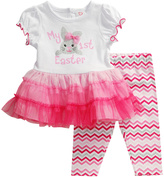 Youngland Pink & White 'My 1st Easter' Ruffle Tee & Leggings - Infant