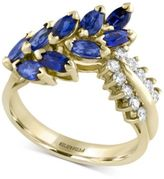 Effy Final Call Sapphire (2 ct. t.w.) and Diamond (1/4 ct. t.w.) Statement Ring in 14k Gold