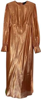 Olivia von Halle Orange Viscose Dresses