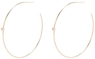 Zoë Chicco 14kt Yellow Gold Diamond Hoop Earrings