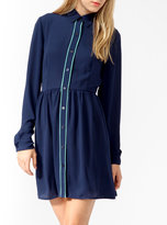 Forever 21 Contrast Piped Shirtdress