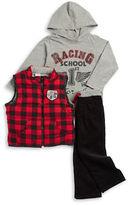 Nannette Boys 2-7 Flannel Vest, Tee and Corduroys Set