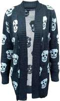 Xclusive Collection New Womens Plus Size Skull Knit Boy Friend Cardigans Winter Knitted Jumpers (14, )