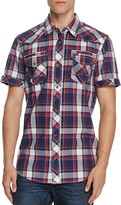 Buffalo Santino Plaid Regular Fit Button Down Shirt