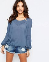 Esprit Relaxed Blouse with Cut Out Detail