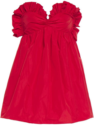 Philosophy di Lorenzo Serafini Strapless Ruffle-trimmed Taffeta Mini Dress