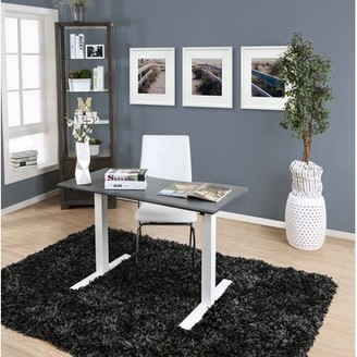 """Symple Stuff Height Adjustable Standing Desk Color: Gray, Size: 29.38"""" H x 47.25"""" W x 27.5"""" D"""
