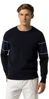 Tommy Hilfiger Stripe Sleeve Crewneck Sweater
