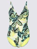 Marks and Spencer Secret SlimmingTM Palm Print Plunge Swimsuit