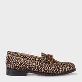 Paul Smith Women's Leopard Print Calf Hair 'Cora' Loafers