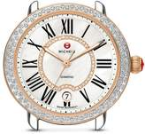 Michele Serein 16 Two-Tone Diamond Dial Watch Head, 36 x 34mm