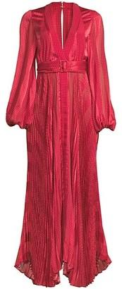 Alexis Salomo Draped Maxi Dress