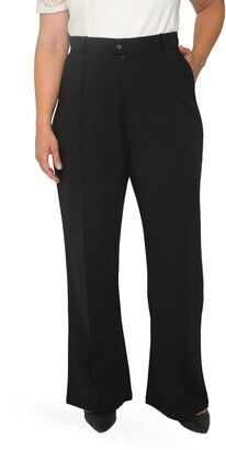 Standards & Practices Pintuck Stretch Crepe Wide Leg Trousers