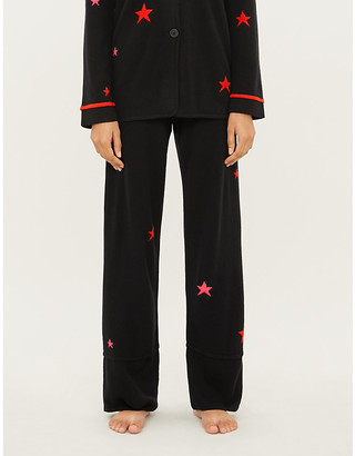 Chinti and Parker Star-print cashmere pyjama bottoms