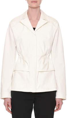 Tomas Maier Notched-Collar Button-Down Peplum Jacket