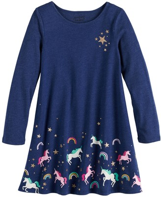 Girls 4-12 Jumping Beans Unicorn Swing Dress