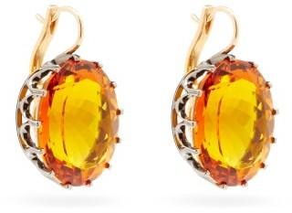 Ileana Makri Topaz & 14kt Gold Drop Earrings - Orange Gold
