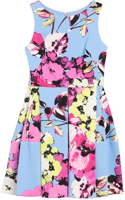 Taylor Floral Print Sleeveless Fit & Flare Dress (Petite)