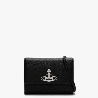 Vivienne Westwood Johanna Black Vegan Cross-Body Wallet