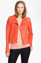 Theory 'Elenian' Leather Coat