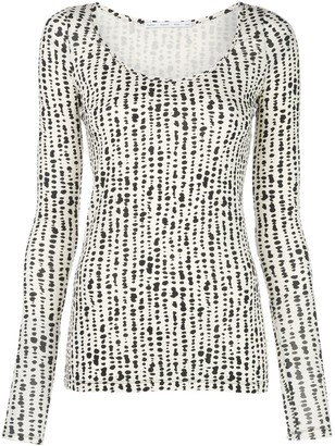 Proenza Schouler White Label Abstract Print Top