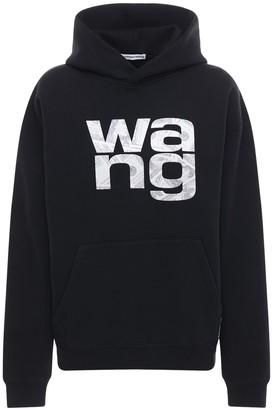 Alexander Wang Embroidered Logo Cotton Blend Hoodie