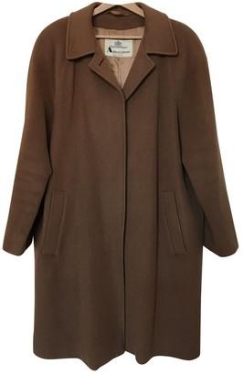 Aquascutum London Camel Wool Coat for Women Vintage