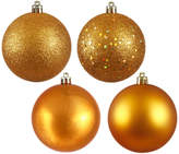 """Vickerman 3"""" Christmas 4 Finish Assorted Ornament, Set of 32, Antique Gold"""