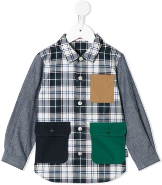 Familiar Flap Pockets Plaid Shirt