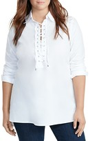Lauren Ralph Lauren Plus Lace-Up Tunic