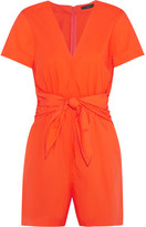 J.Crew Tessa Tie-front Cotton-poplin Playsuit - Bright orange