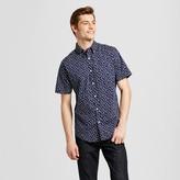 Merona Men's Short Sleeve Button Down Shirt Navy Print