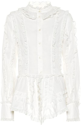 See by Chloe Ruffled cotton blouse